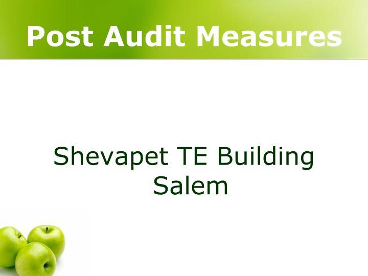 Post Audit Measures