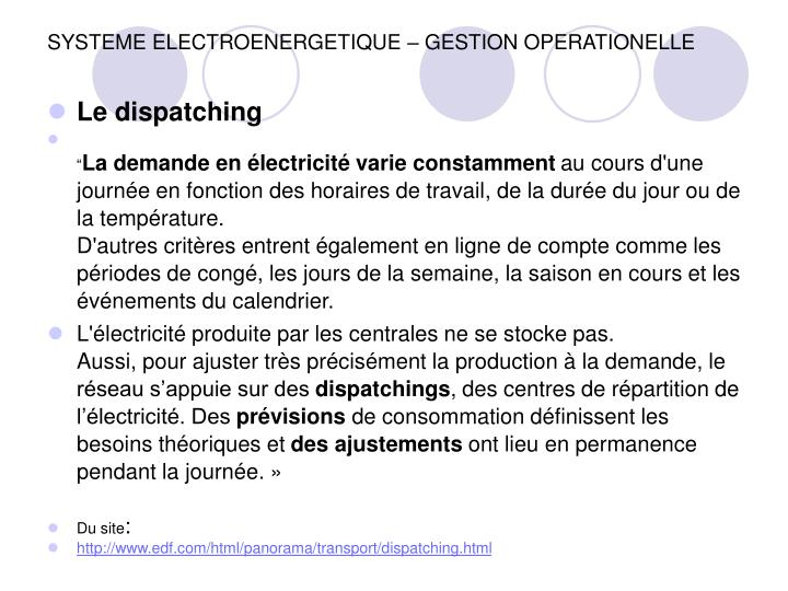 Systeme electroenergetique gestion operationelle1