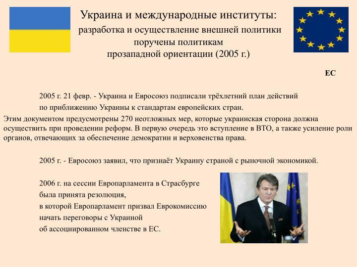 Украина и международные институты: