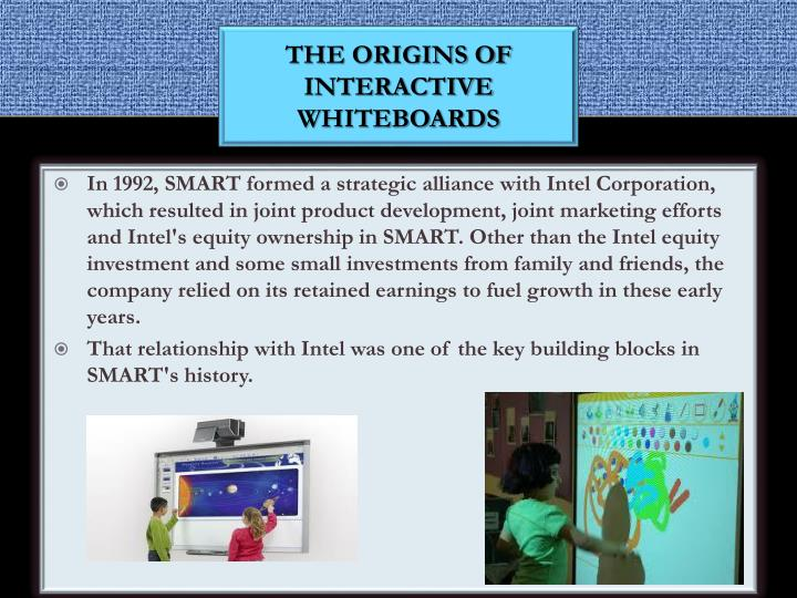 The origins of interactive Whiteboards