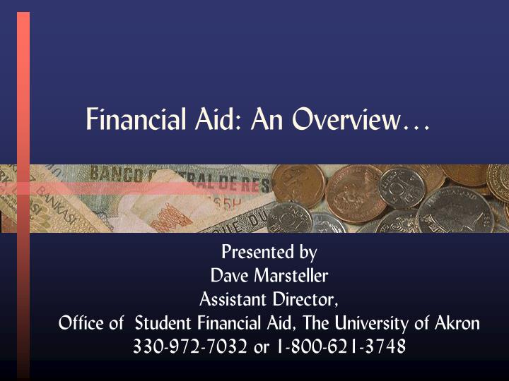 Financial aid an overview