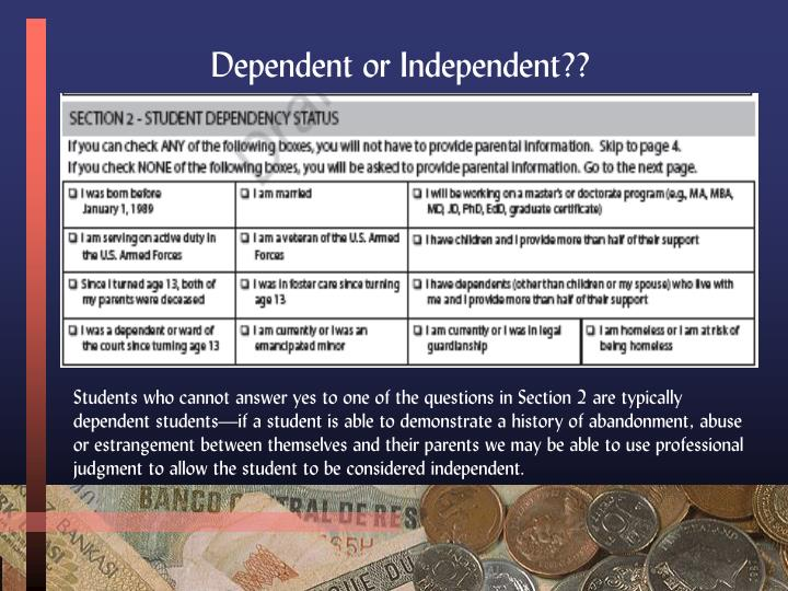 Dependent or Independent??