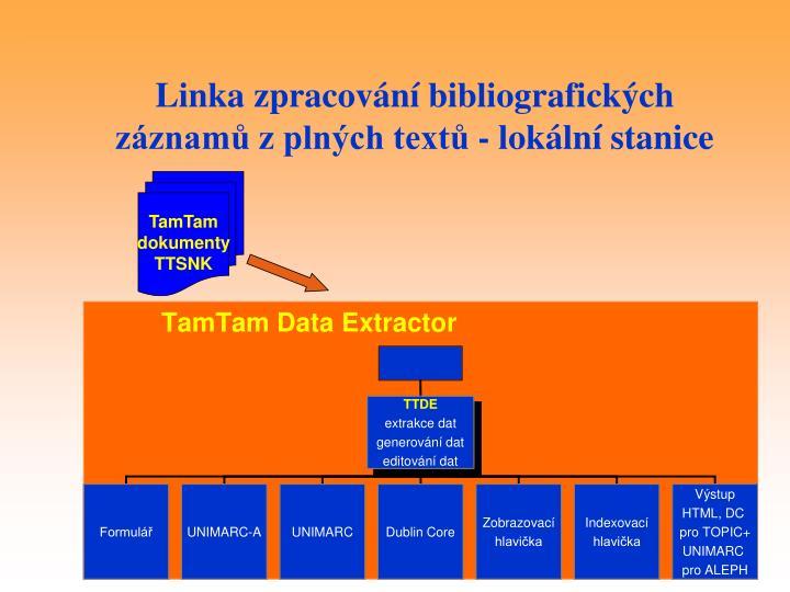 Linka zpracování bibliografických záznamů z plných textů - lokální stanice