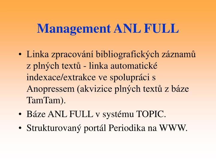 Management ANL FULL