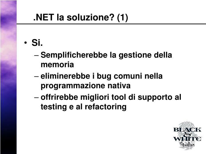 .NET la soluzione? (1)