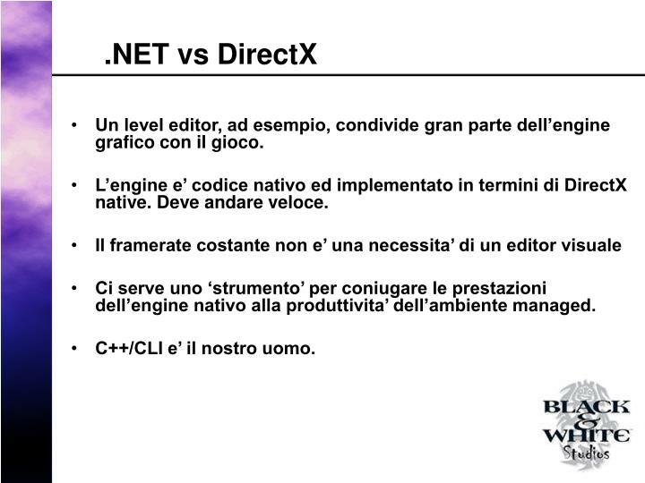 .NET vs DirectX