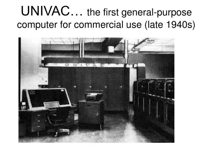 UNIVAC…
