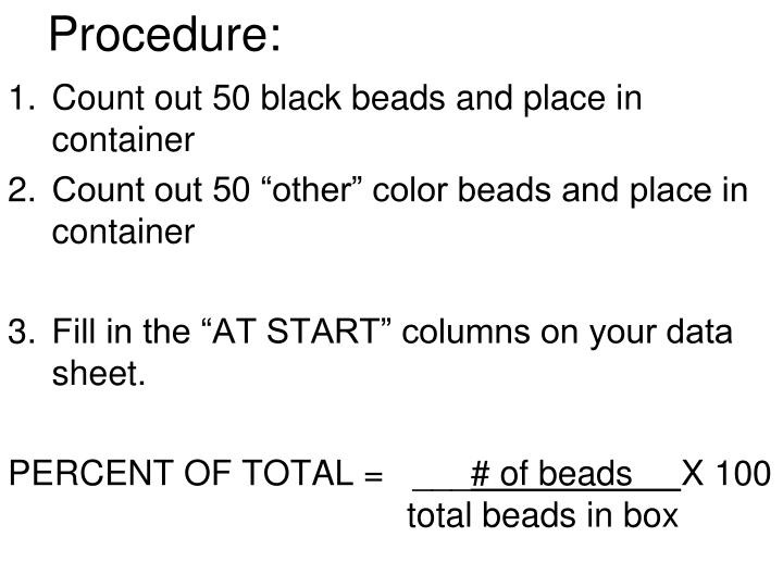 Procedure: