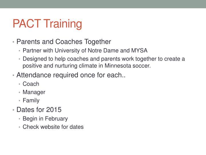 PACT Training