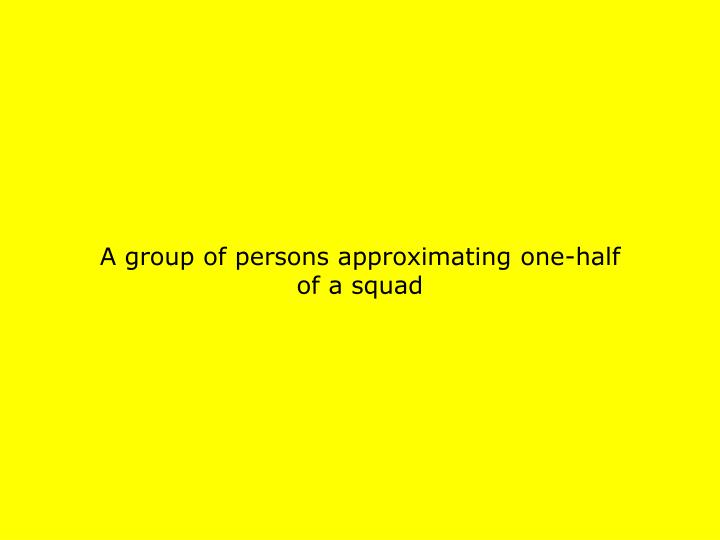 A group of persons approximating one-half