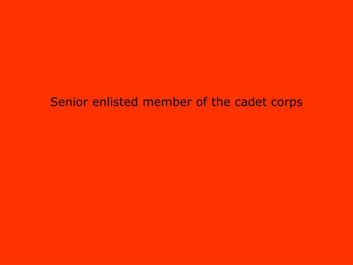 Senior enlisted member of the cadet corps