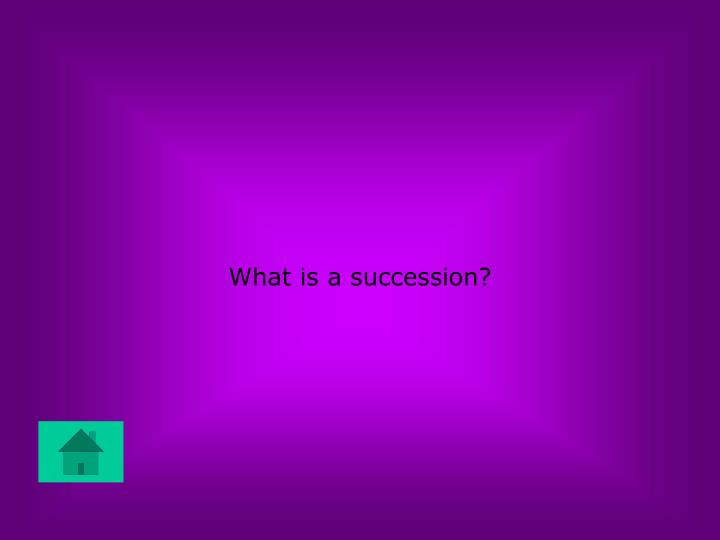 What is a succession?