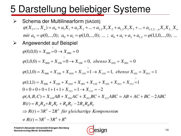5 Darstellung beliebiger Systeme
