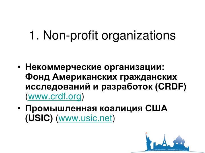 1. Non-profit organizations