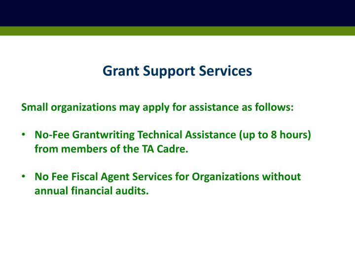 Grant Support Services
