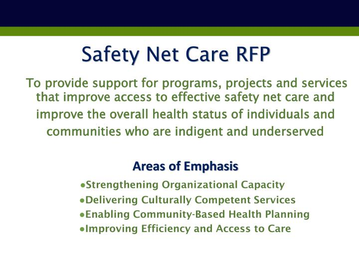Safety Net Care RFP