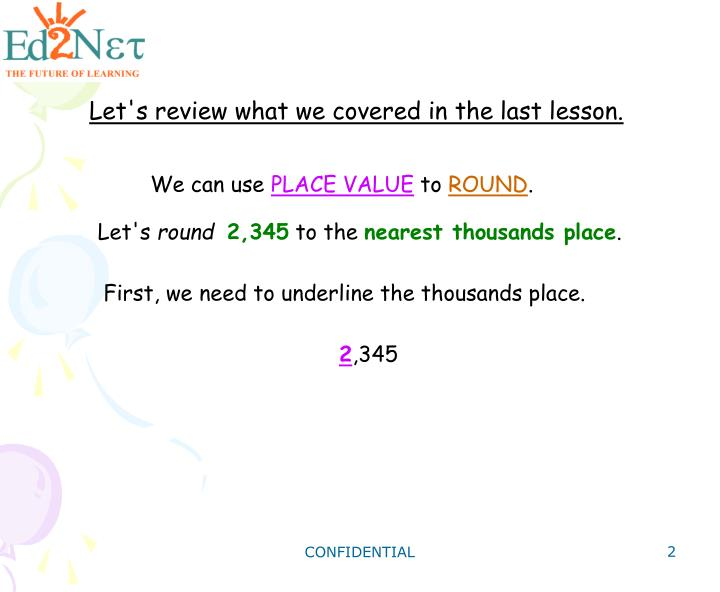 Let's review what we covered in the last lesson.