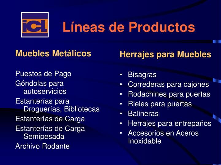 Líneas de Productos