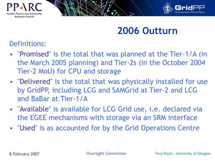 2006 Outturn