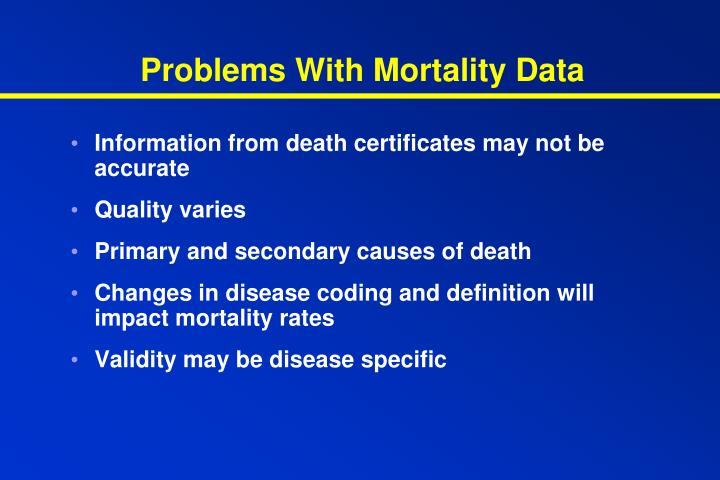 Problems With Mortality Data