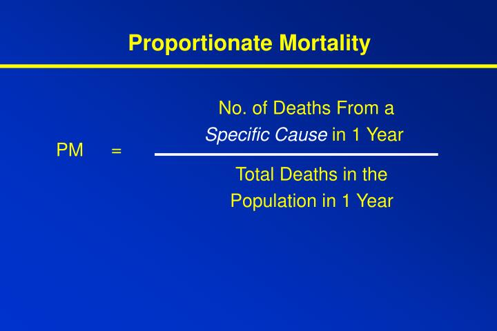Proportionate Mortality