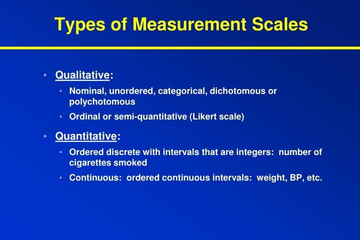 Types of Measurement Scales