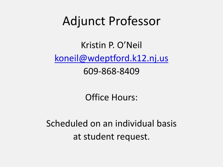 Adjunct Professor