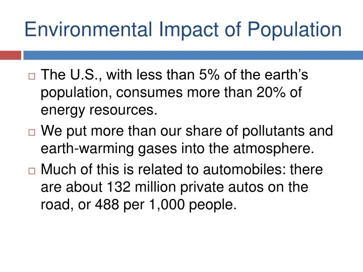 Environmental Impact of Population