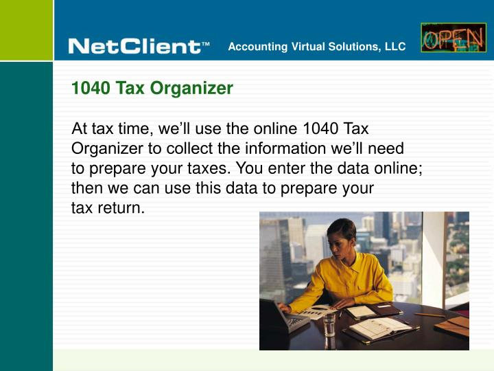 1040 Tax Organizer