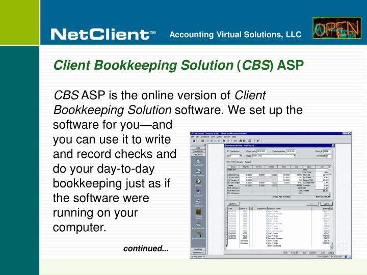 Client Bookkeeping Solution