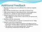 additional feedback
