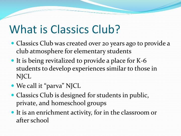 What is Classics Club?