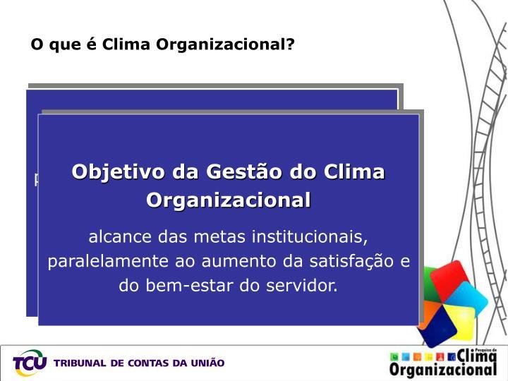 O que é Clima Organizacional?