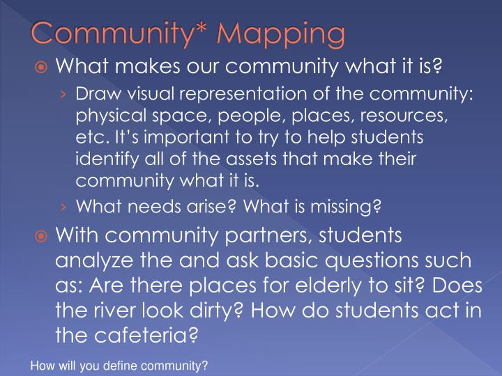 Community* Mapping