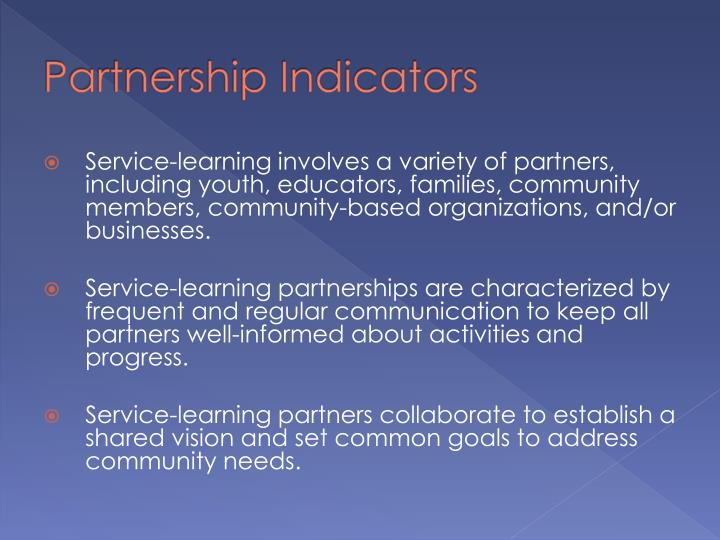 Partnership Indicators