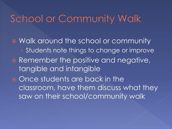 School or Community Walk