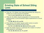 existing state of school siting laws2