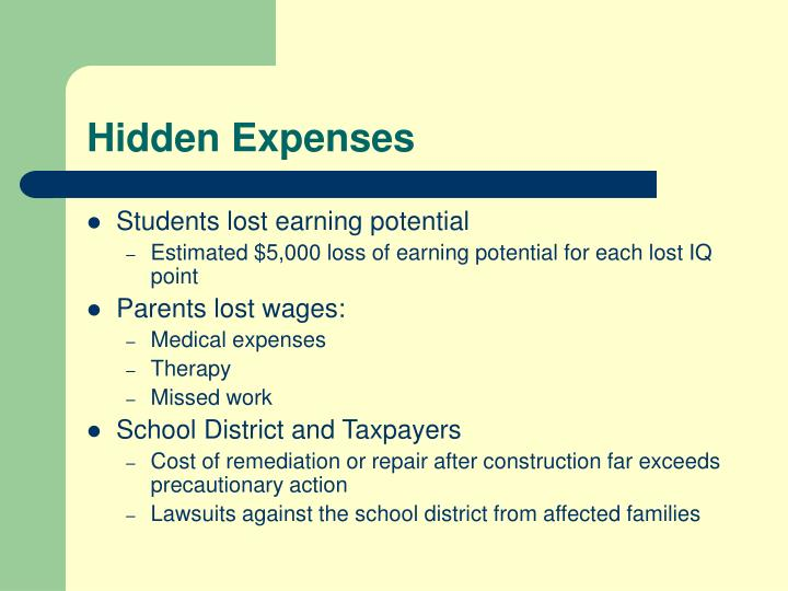 Hidden Expenses