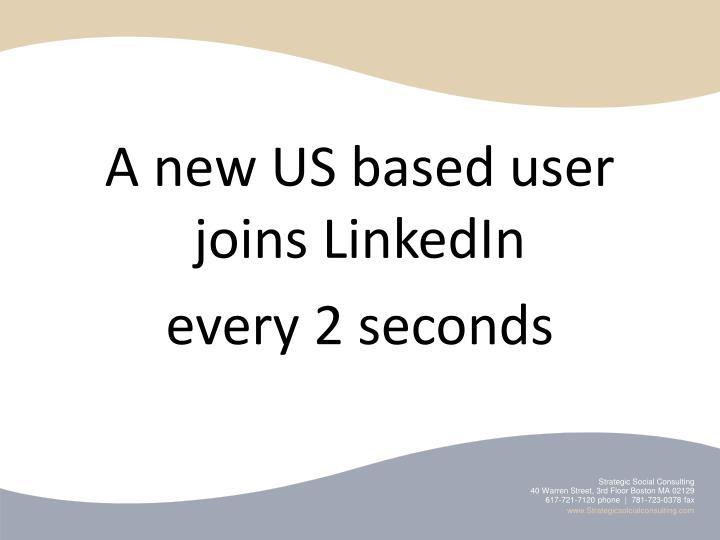 A new US based user joins LinkedIn