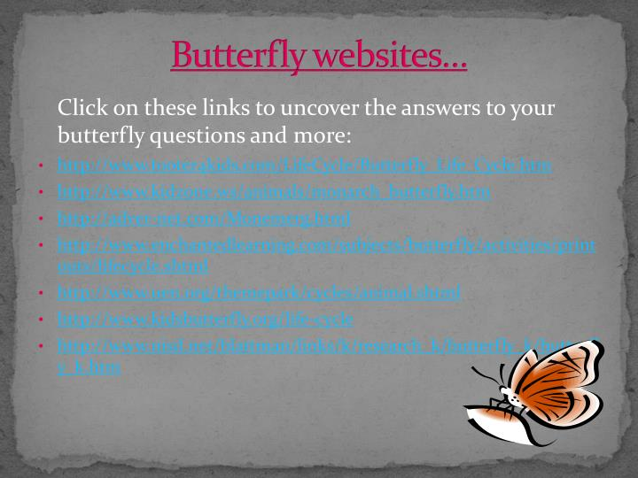 Butterfly websites…