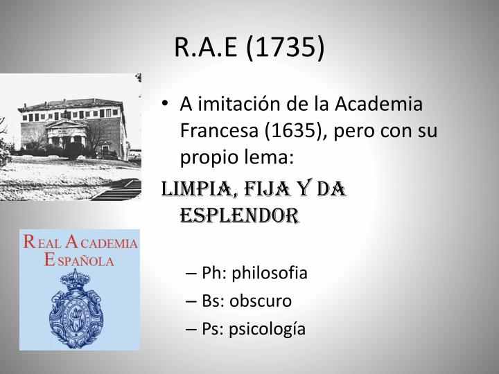 R.A.E (1735)