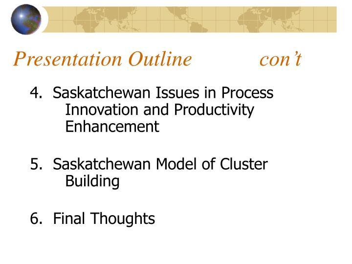 Presentation Outlinecon't