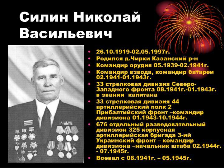Силин Николай Васильевич