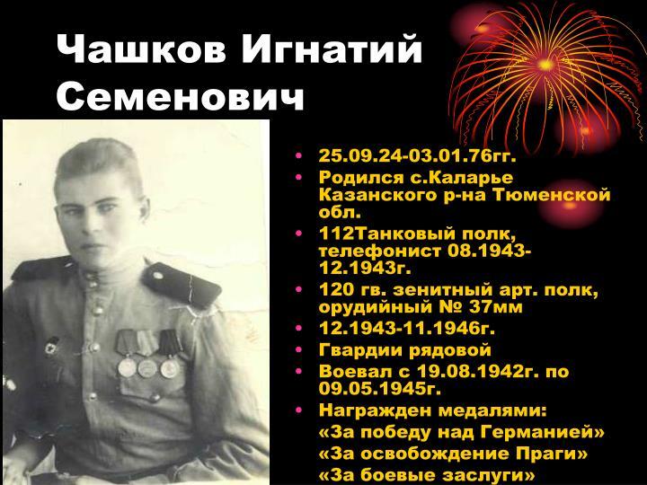 Чашков Игнатий Семенович