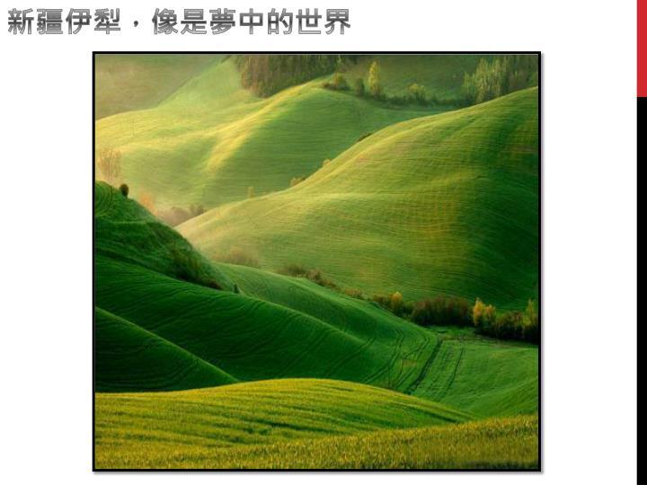 新疆伊犁,像是夢中的世界