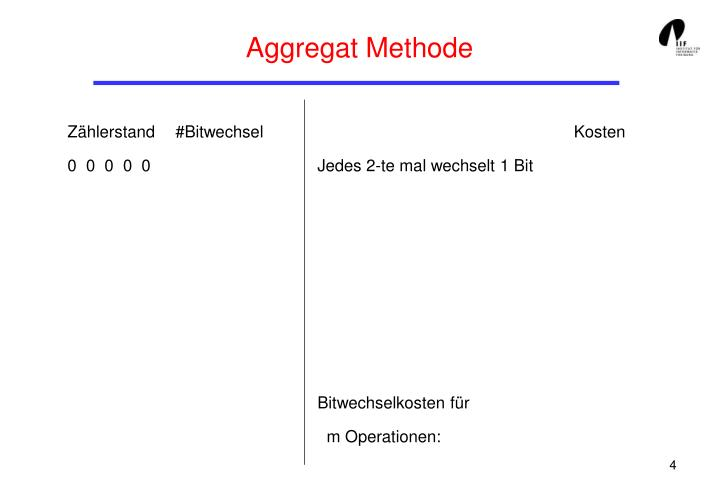 Aggregat Methode