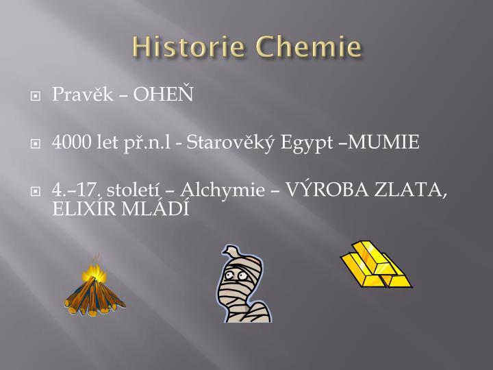 Historie Chemie