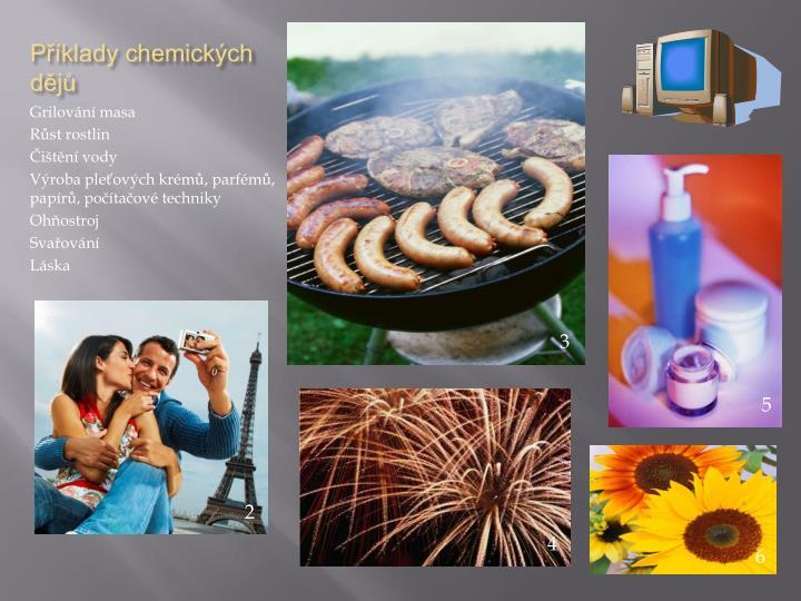 Příklady chemických dějů