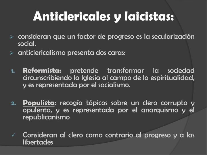 Anticlericales y laicistas: