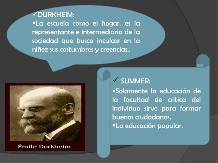 DURKHEIM: